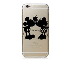 Kryt s Mickey Mousem a Minnie Mouse, plast (iPhone 6/6S)
